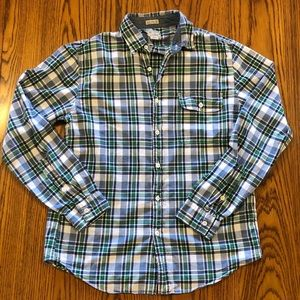 J Crew Indian Madras button down